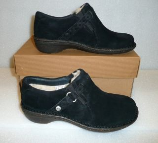 UGG Oleander Black Suede Womens Shoes New in Box