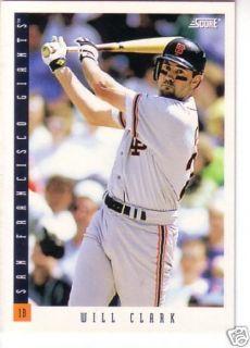 1993 Score San Francisco Giants Team Set 24 McGee
