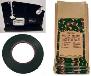 Poly Ground Meat Packaging Kit Wild Game Bag Meat Grinder
