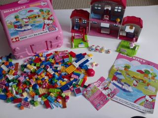MEGA BLOCKS lego HELLO KITTY house BOX extras CHILDRENS TOYS games