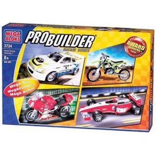 Mega Bloks Probuilder Xtreme Racing Set 3734 New Pro Builder Model