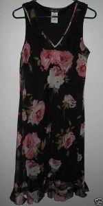 Meghan Matthews Womens Sleeveless Floral Dress 10