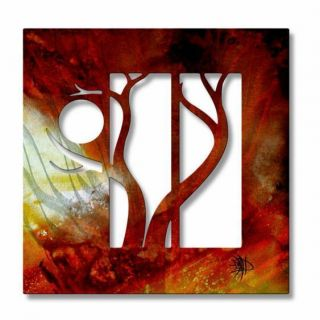 Megan Duncanson Forest in the Hot Sun Abstract metal wall art, modern