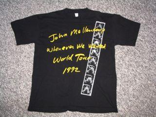John Mellencamp Whenever We Wanted Tour 1992 Shirt