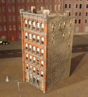 HO Scale Building Lunde Studios McAdam Built Up Painted & Weathered