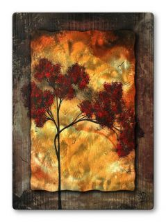 Megan Duncanson Big Red Modern Home Decor Abstract Metal Wall Art