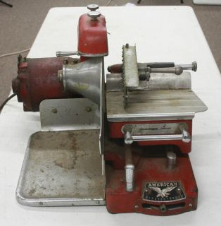 Vintage American Slicing Machine Co Meat Cheese Slicer Chicago Working