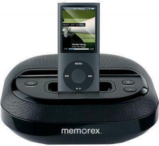 Memorex MI5091 Compact Speaker System Dock Fits iPod Black