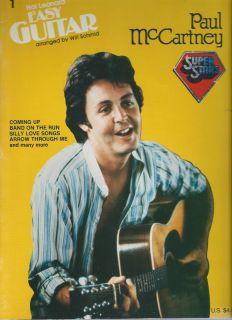 Song Book Paul McCartney Easy Guitar Super Stars 14 Songs