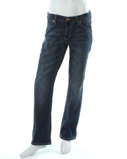 Seven 7 Jeans Straight Leg Medium Distressed Wash Jeans