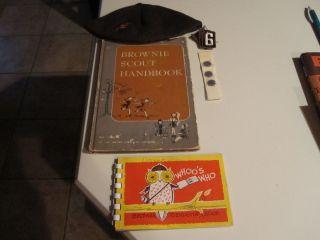 Vintage 1951 Girl Scout Brownie Book Hat