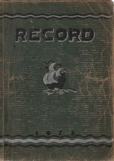 High School Yearbook Menominee Michigan Record 1928