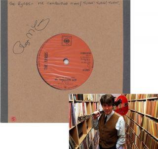 Tambourine Man 45rpm Signed Roger McGuinn Autograph Vinyl Aftal