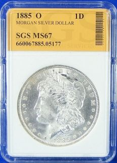 1885 O Morgan Silver Dollar BU Gem Uncirculated 6705177