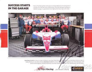 2010 Vitor Meira Signed Gladiator GarageWorks Honda Indy 500 Indy Car