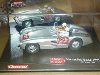 Carrera EVO 1 32 Slot Car Mercedes Benz 300 SLR Miglia
