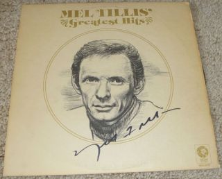 Mel Tillis Authentic Hand Signed Record Album Autographed Country Hall