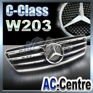 MERCEDES BENZ C CLASS W203 FRONT GRILLE AMG C230 C280 C320 C350 00 06