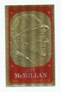 Roy McMillan New York Mets 1965 Topps Gold Embossed