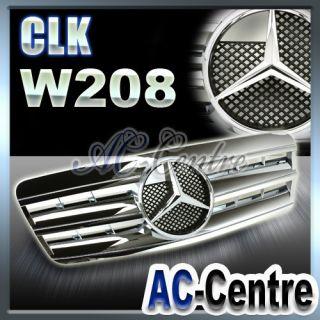 MERCEDES BENZ CLK CLASS W208 FRONT GRILLE GRILL CLK320 CLK430 AMG