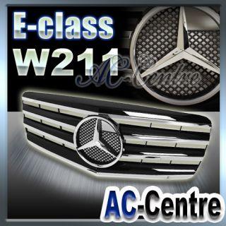MERCEDES BENZ E CLASS W211 FRONT GRILLE GRILL E320 E350 E550 AMG SPORT