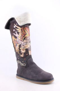 Ed Hardy Snowblazer Boots Snow New Shoes Brown Womens