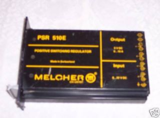 Melcher PSR 510E Positive Switching Regulator