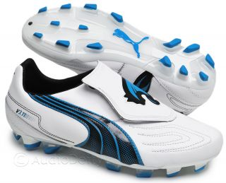 New Puma Speed V3 11 I FG Mens Leather Soccer Cleats White Blue