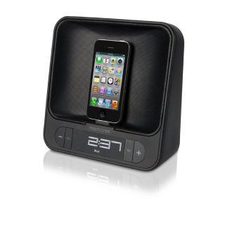Memorex Dual Alarm Clock Radio w Apple Dock 2 Charging Ports Built in