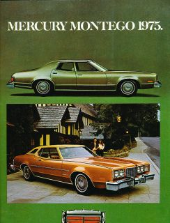 1975 Mercury Montego Original Sales Brochure Catalog Canada