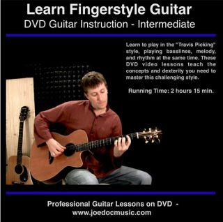Guitar DVD Lessons Learn Finger Picking & Merle Travis Style Video