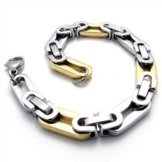 Stainless Steel Golden Styles Wheels Mens Bracelet