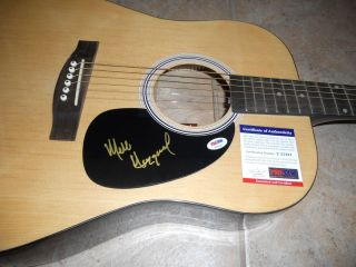 Merle Haggard Country Music Signed Autographed Acoustic Guitar PSA