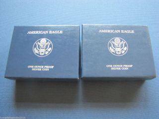 2008 W American Silver Dollar Eagle PROOF Bullion Coins Mint Packaging