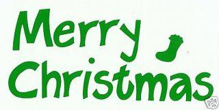 Merry Christmas Green Scrapbook Letter Die Cuts