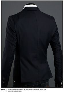 New Mens Slim Fit Dress Suit Jacket One Button Top 4 Color M XXL x14