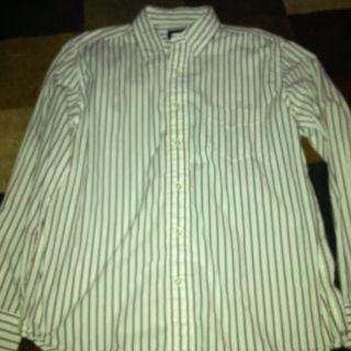 Mens American Eagle Button Down Shirt Medium Striped
