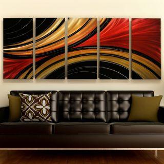abstract metal wall art freeform decor ash
