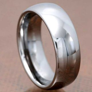 Carbide Classic Mirror Polished Domed Band Mens Wedding Ring