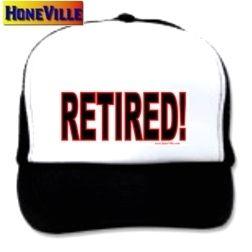Mesh Ball Cap Hat Retired Retire Retirement Retiring
