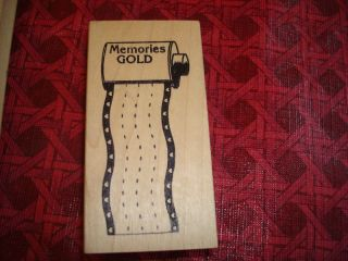 Rubber Stamp Note Lined Memo Roll Film Memories Photo S