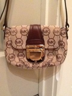 Michael Kors Brown Charlton Crossbody Shoulder Handbag