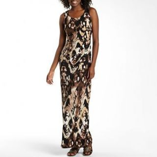 Ruby Rox Dress Womens XS Snake Animal Print Sexy Maxi Ruched Evening