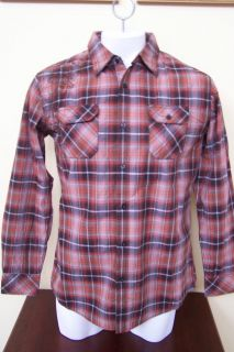 Michael Brandon Long Sleeve Button Front Graphic Shirt Orange