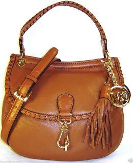 Michael Kors Bennet NS Leather Convertible Shoulder Bag $278 Luggage