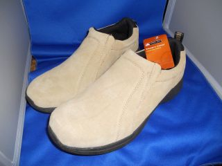 Womens Merna Slip on Suede Leather Shoes by Ozark Trail Tan Size 11