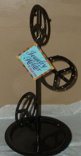 Peace Sign Metal Jewelry Holder Stand Dorm Girls Earrings Necklace