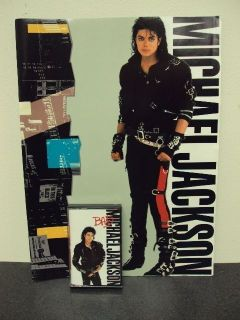 Michael Jackson Bad Cassette Tape and World Tour 1988 Book