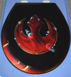 Star Wars Style Custom Rebel Toilet Seat Cut Metal Airbrushed Bath