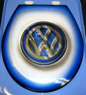 Volkswagen Custom Toilet Seat VW Cut Metal Airbrushed Design Beetle